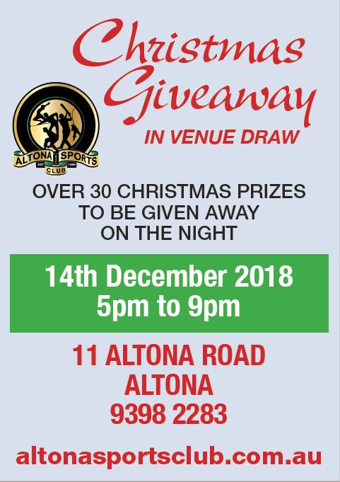 CHRISTMAS GIVEAWAY in Venue Draw