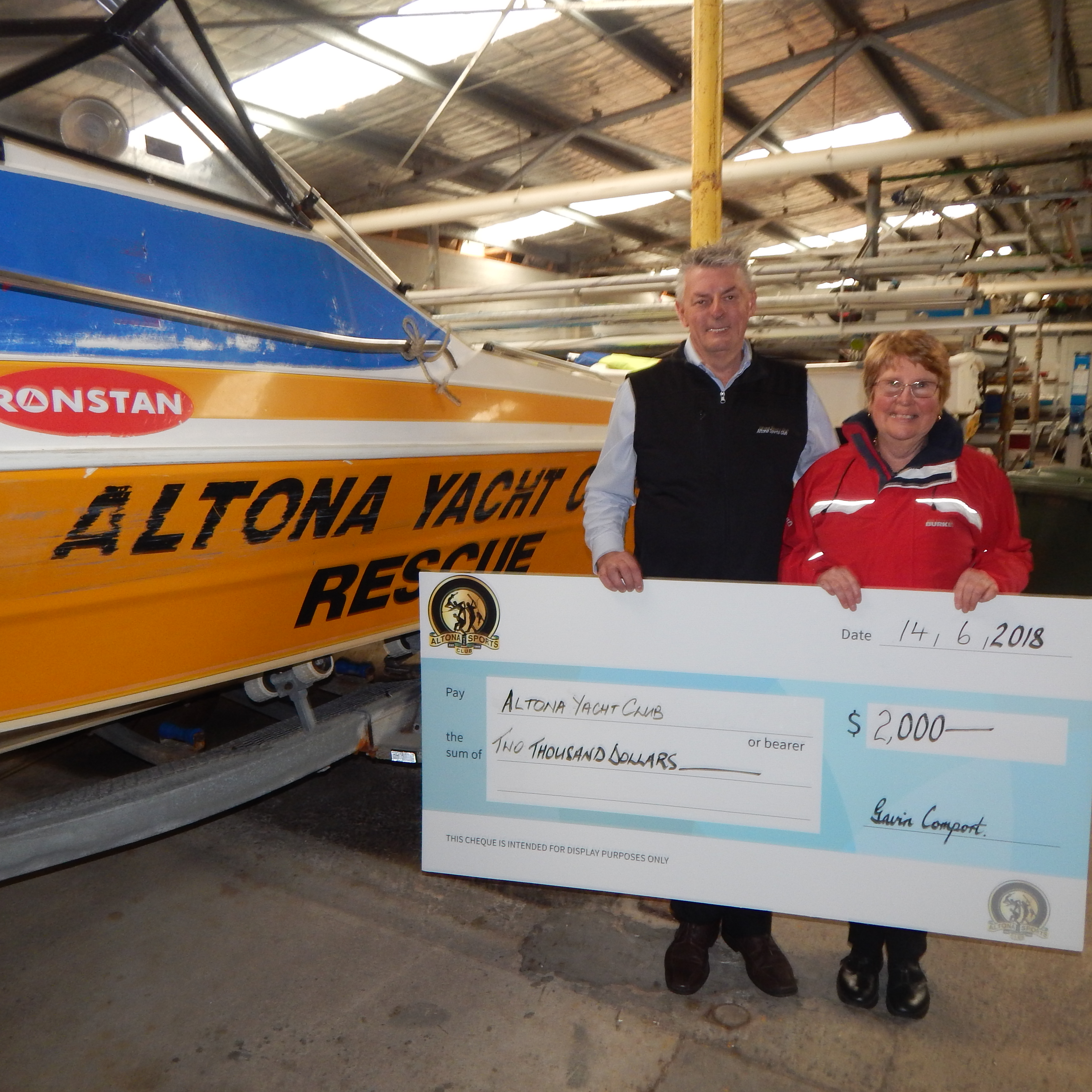 ALTONA YACHT CLUB SPONSORSHIP