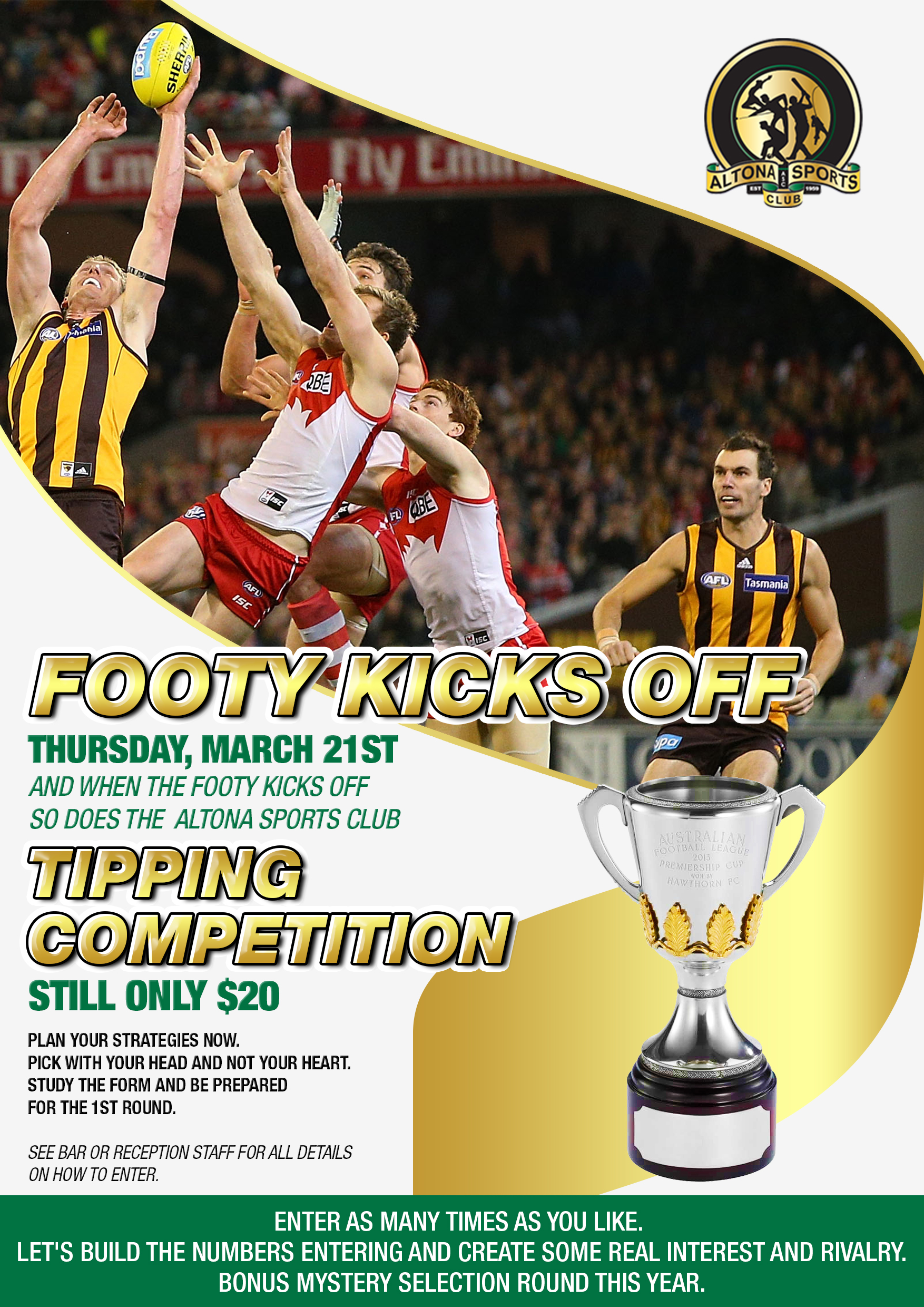 2019 FOOTY TIPPING COMPETITION