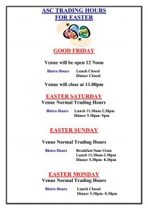 ASC Easter Trading Hours 2018