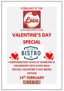 Valentines Day Altona Sports Club